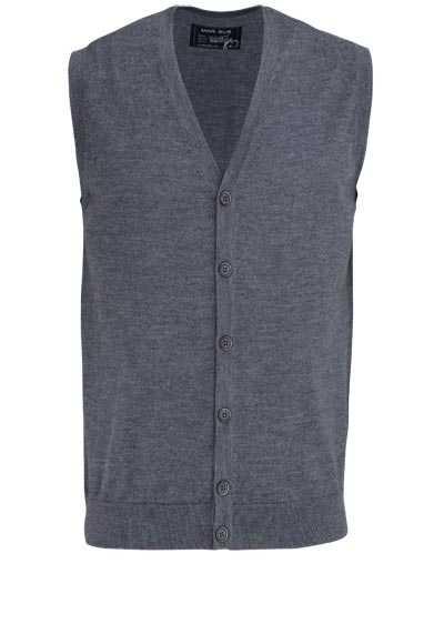 MARVELIS Strickjacke ohne Ärmel mit Knopfleiste dunkelgrau - Hemden Meister