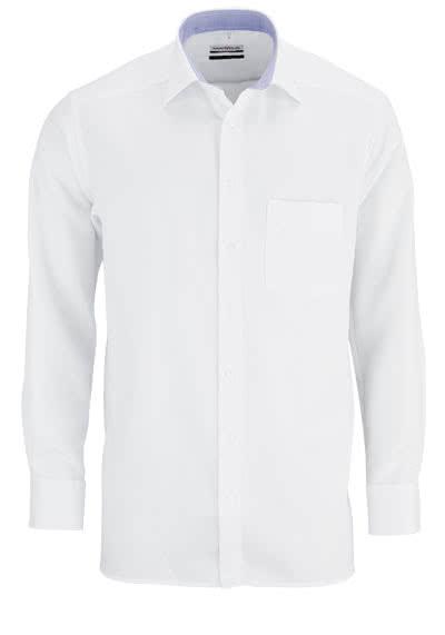 MARVELIS Comfort Fit Hemd Langarm mit Brusttasche weiß - Hemden Meister