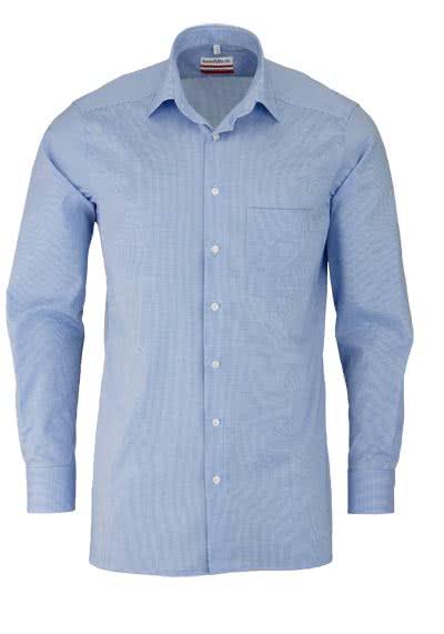 MARVELIS Modern Fit Hemd Langarm New Kent Karo blau
