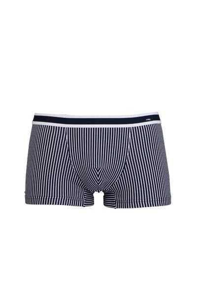 MEY Shorts Webgummibund gestreift Baumwollmischung blau - Hemden Meister