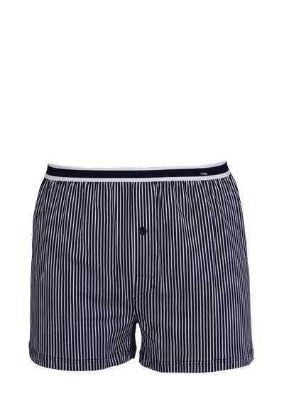 MEY Boxer Short gesteift Webgummibund Baumwollmischung blau - Hemden Meister