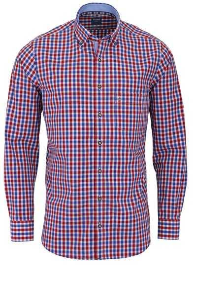OLYMP Casual modern fit Trachtenhemd Button Down Kragen Karo rot - Hemden Meister