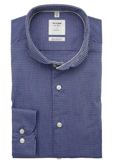OLYMP Level Five Smart Business body fit extra langer Arm blau