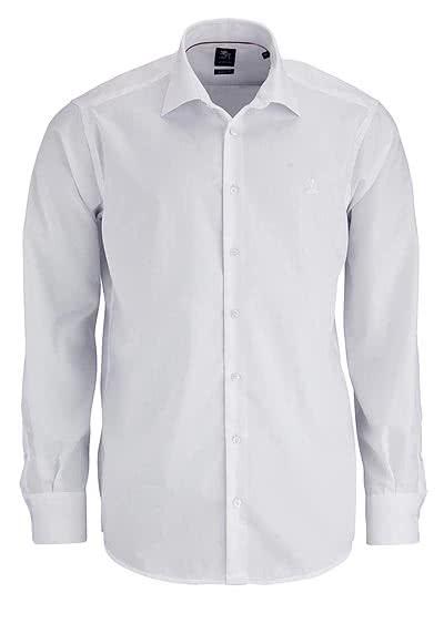 OTTO KERN Hemd Langarm New Kent mit Kragenband weiß - Hemden Meister