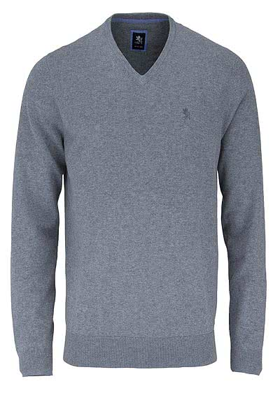 OTTO KERN Pullover V-Ausschnitt silber - Hemden Meister