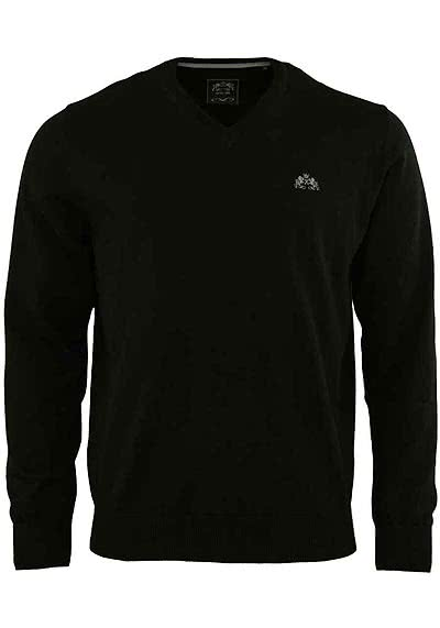 OTTO KERN Pullover V-Ausschnitt schwarz - Hemden Meister