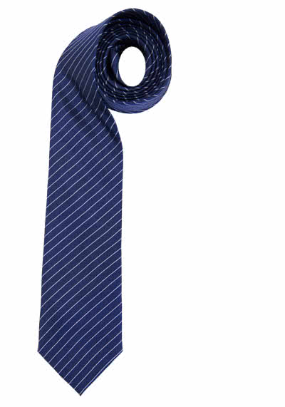 OTTO KERN Seidenkrawatte Nadelstreifendessin 7,0 cm breit dunkelblau - Hemden Meister