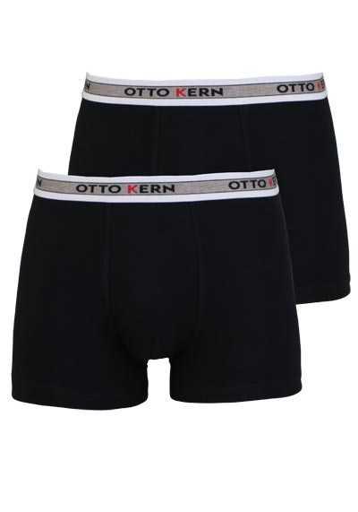 OTTO KERN Pants Gummibund mit Logoschriftzug Doppelpack schwarz - Hemden Meister