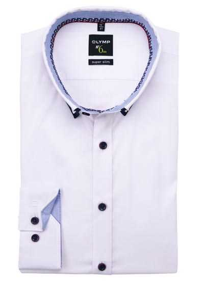 OLYMP No. Six super slim Hemd Langarm Button Down Kragen weiß preisreduziert