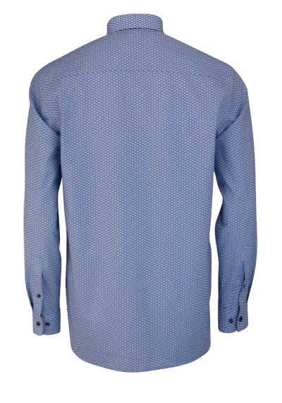 OLYMP Luxor comfort fit Hemd extra langer Arm Muster blau