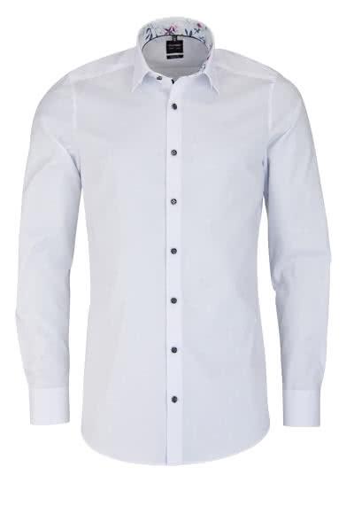 OLYMP Level Five body fit Hemd Langarm Chambray weiß - Hemden Meister