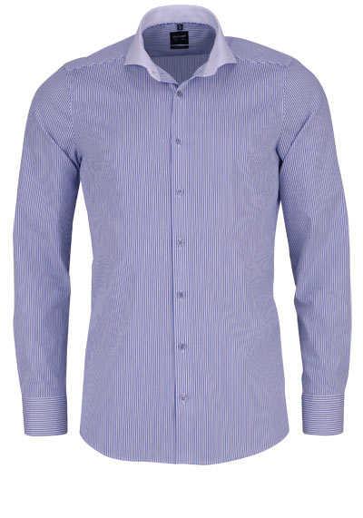 OLYMP Level Five body fit Hemd Langarm Streifen dunkelblau - Hemden Meister