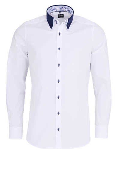 OLYMP Level Five body fit Hemd Langarm Button Down Kragen weiß - Hemden Meister