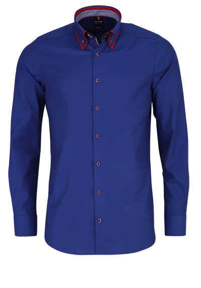OLYMP Level Five body fit Hemd Langarm Button Down Kragen rauchblau - Hemden Meister