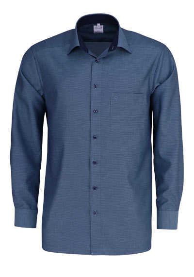 OLYMP Luxor comfort fit Hemd Langarm New Kent Kragen Muster grün - Hemden Meister