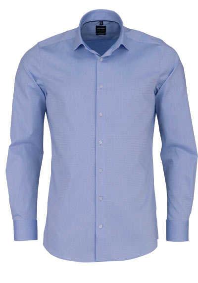 OLYMP Level Five body fit Hemd Langarm Struktur hellblau - Hemden Meister