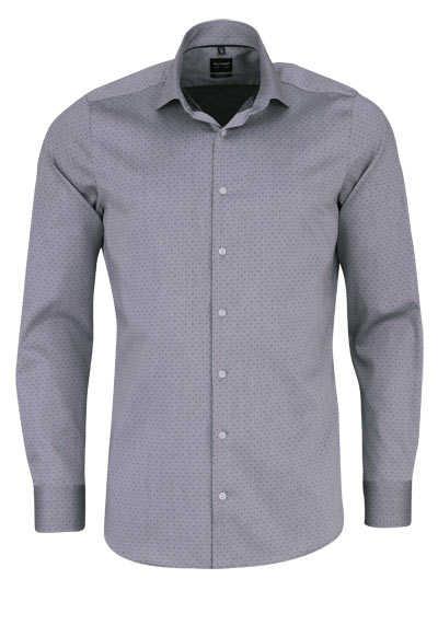 OLYMP Level Five body fit Hemd Langarm Struktur dunkelgrau - Hemden Meister