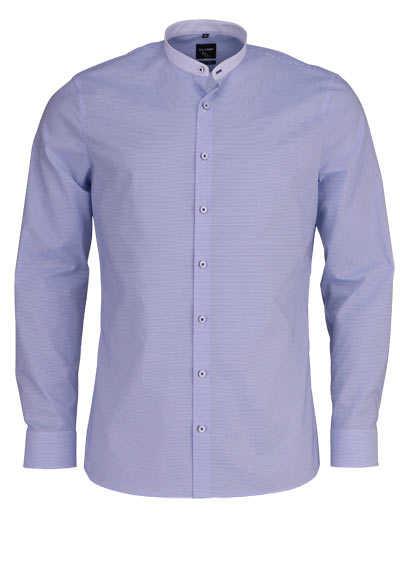 OLYMP No. Six super slim Hemd extra langer Arm Ringel hellblau - Hemden Meister