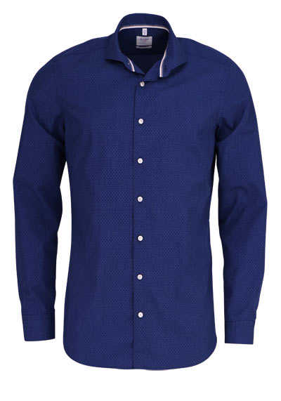 OLYMP Level Five Smart Business body fit Hemd extra langer Arm blau - Hemden Meister