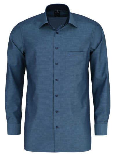 OLYMP Luxor modern fit Hemd Langarm New Kent Kragen Muster grün - Hemden Meister