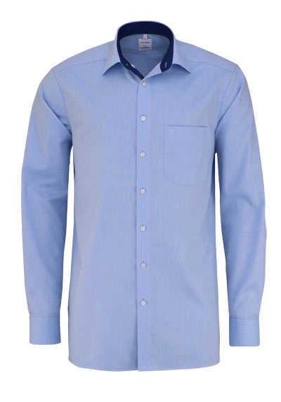OLYMP Luxor comfort fit Hemd extra langer Arm Struktur hellblau - Hemden Meister
