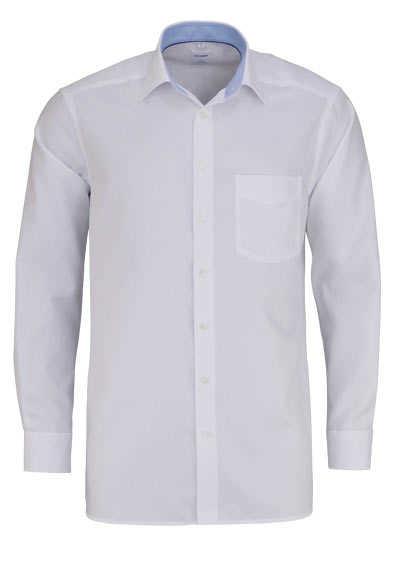 OLYMP Luxor comfort fit Hemd extra langer Arm Struktur weiß - Hemden Meister