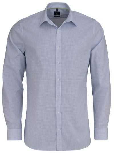 OLYMP No. Six super slim Hemd extra langer Arm Punkte hellblau - Hemden Meister