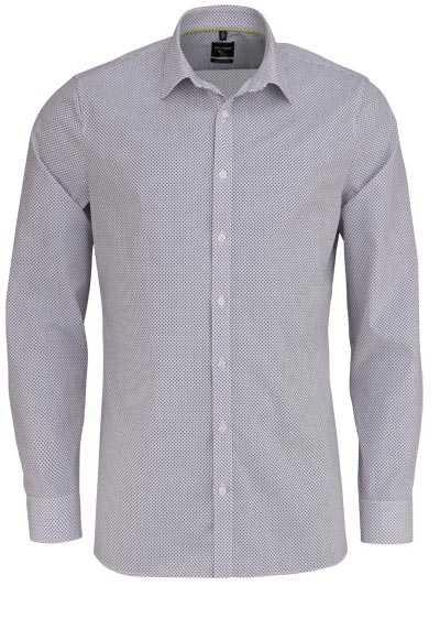 OLYMP No. Six super slim Hemd extra langer Arm Punkte dunkelblau - Hemden Meister
