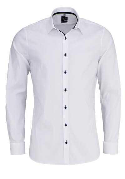 OLYMP No. Six super slim Hemd Langarm New Kent Kragen weiß - Hemden Meister