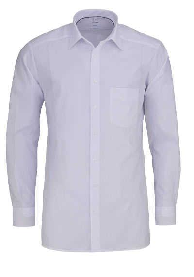OLYMP Tendenz regular fit Hemd Langarm Muster weiß - Hemden Meister