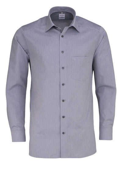 OLYMP Tendenz regular fit Hemd Langarm Muster grau - Hemden Meister
