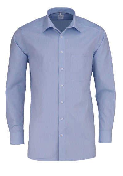 OLYMP Tendenz regular fit Hemd Langarm Muster hellblau - Hemden Meister