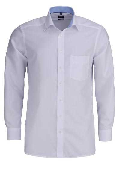 OLYMP Luxor modern fit Hemd extra kurzer Arm Struktur weiß - Hemden Meister