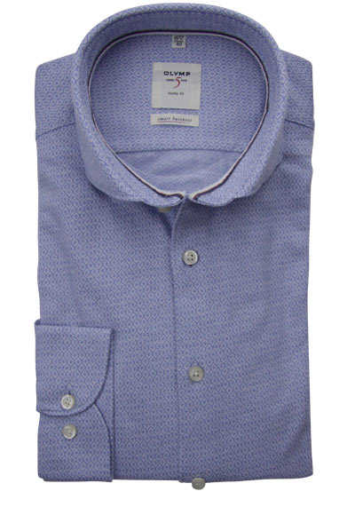 OLYMP Level Five Smart Business body fit Hemd extra langer Arm blau