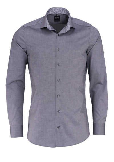 OLYMP Level Five body fit Hemd extra langer Arm Struktur dunkelgrau - Hemden Meister