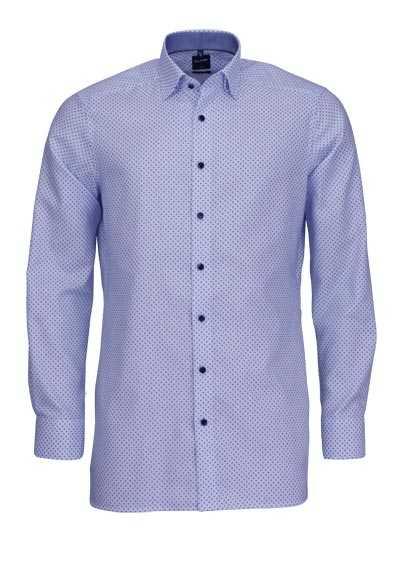 OLYMP Luxor modern fit Hemd extra langer Arm Kragen blau - Hemden Meister