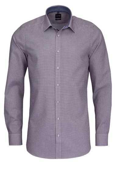OLYMP Level Five body fit Hemd extra langer Arm Karo rot - Hemden Meister