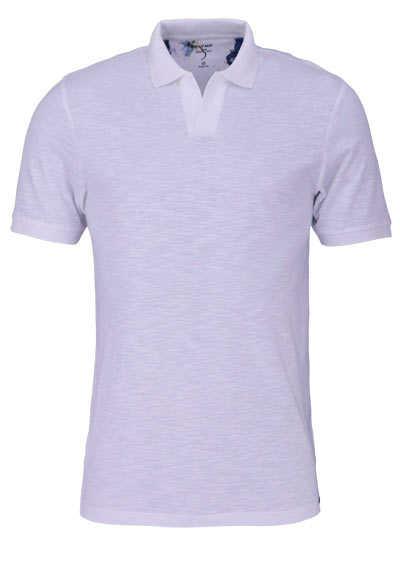 OLYMP Level Five Poloshirt Halbarm geknöpfter Kragen weiß - Hemden Meister