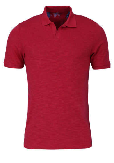 OLYMP Level Five Poloshirt Halbarm geknöpfter Kragen mittelrot - Hemden Meister