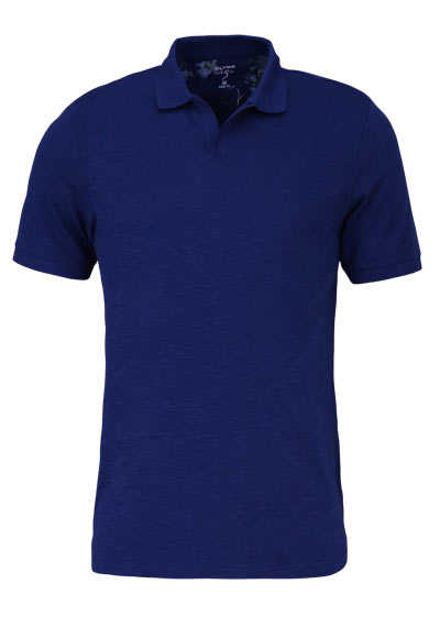 OLYMP Level Five Poloshirt Halbarm geknöpfter Kragen rauchblau - Hemden Meister