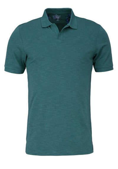 OLYMP Level Five Poloshirt Halbarm geknöpfter Kragen mittelgrün - Hemden Meister