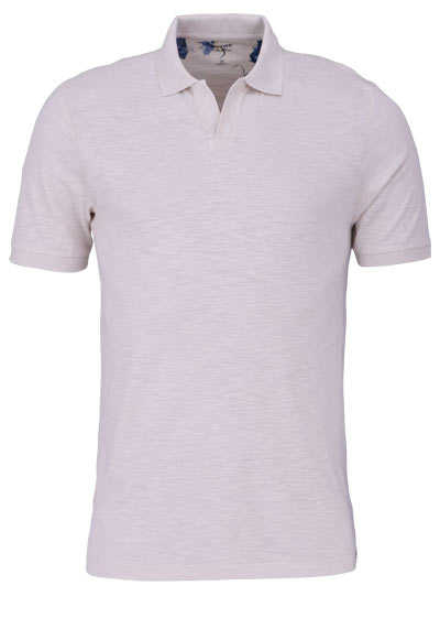 OLYMP Level Five Poloshirt Halbarm geknöpfter Kragen beige - Hemden Meister