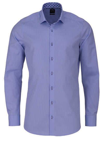 OLYMP Level Five body fit Hemd extra langer Arm Struktur hellblau - Hemden Meister