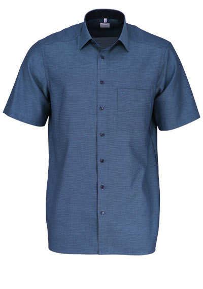 OLYMP Luxor comfort fit Hemd Halbarm New Kent Kragen Muster grün - Hemden Meister