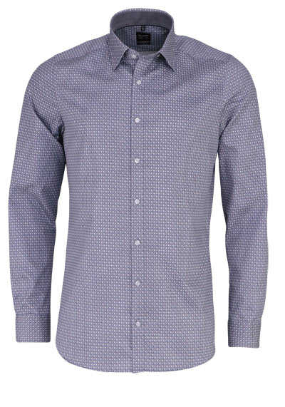 OLYMP Level Five body fit Hemd extra langer Arm Muster schwarz - Hemden Meister