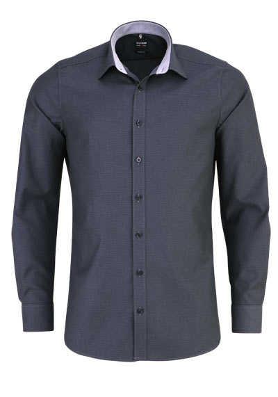 OLYMP Level Five body fit Hemd Langarm Struktur anthrazit - Hemden Meister