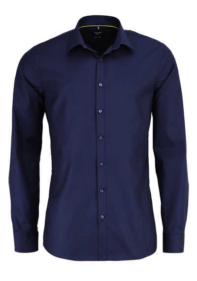 OLYMP No. Six super slim Hemd extra langer Arm Struktur navy - Hemden Meister