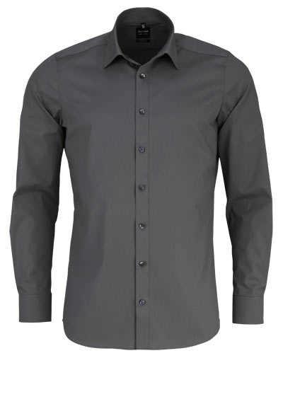 OLYMP Level Five body fit Hemd Langarm New Kent Kragen Stretch moos - Hemden Meister