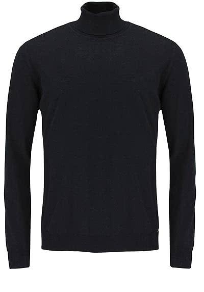 OLYMP Strick Pullover Rollkragen extrafeine Merinowolle schwarz - Hemden Meister