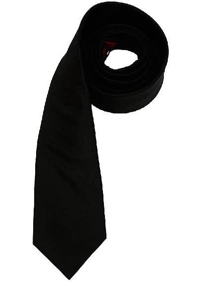 OLYMP Krawatte regular aus reiner Seide mit Nano-Effekt schwarz - Hemden Meister